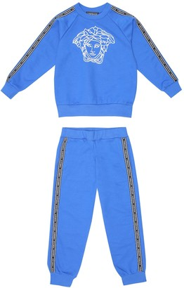 Versace Kids Embroidered cotton tracksuit