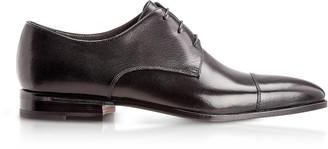 Moreschi Lipsia Black Buffalo Leather Derby Shoes