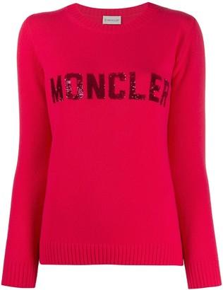 Moncler Sequin Logo Jumper