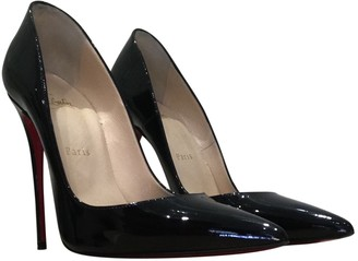 Christian Louboutin So Kate Black Patent leather Heels