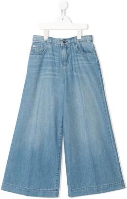 Emporio Armani Kids Wide-Leg Flared Jeans