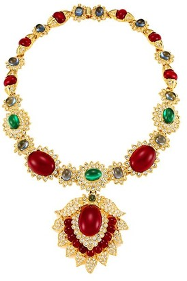 Kenneth Jay Lane 22K Goldplated & Multi-Stone Pendant Necklace