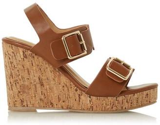 Roberto Vianni Kahila Buckle Wedge Heeled Sandals