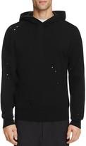 Vince Distressed Pullover Hoodie Sweatshirt