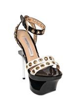 Gianmarco Lorenzi 160mm Patent Sculptural Sandals