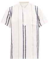 Onia - Anthony Striped Henley Shirt - Mens - Multi