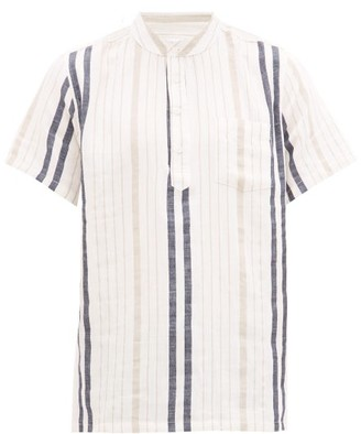 Onia Anthony Striped Henley Shirt - Mens - Multi