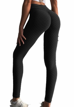 Cross1946 Women's Scrunch Butt Leggings Butt Lift high Waist Leggings with Tummy Control