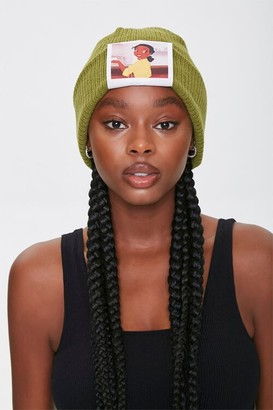 Forever 21 Tiana Graphic Ribbed Beanie
