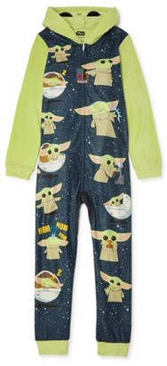 Star Wars Yoda Boys Exclusive Hooded Pajama Blanket Sleeper Sizes 4-16