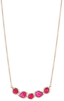 Monica Vinader Siren Mini Nugget Cluster 18K Rose Gold & Pink Quartz Necklace