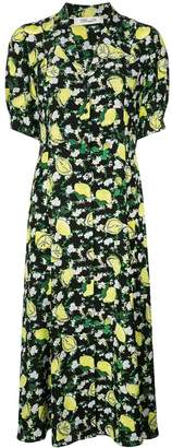 Diane von Furstenberg Lily lemon print dress