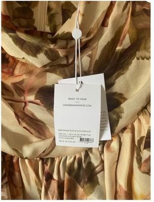 Zimmermann Beige Silk Dress for Women
