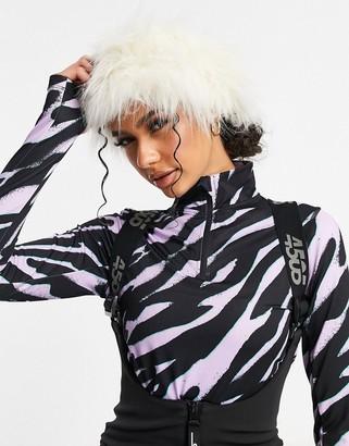ASOS 4505 ski faux fur headband in cream