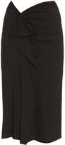 Isabel Marant Quantin ruffle-trimmed midi skirt