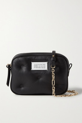 Maison Margiela Camera Quilted Leather Shoulder Bag - Black