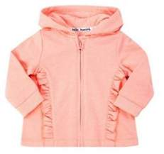 F&F Frill Trim Zip-Through Hoodie 0-1 months