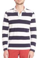 Saks Fifth Avenue Long Sleeve Rugby Polo