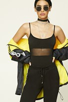 Forever 21 Strappy Mesh Cami Bodysuit