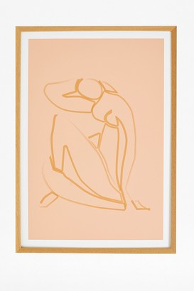 French Connection Female Outline Print in Hardwood Frame 50X70