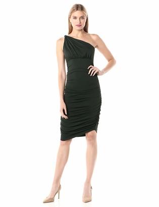 Susana Monaco Women's Ruched Twisted Shoulder Dress