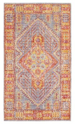 """French Connection Michiel Colorwashed Blue/Red Area Rug Rug Size: Rectangle 2'3"""" x 3'10"""""""