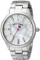 Betsey Johnson Women's BJ00433-01 Analog Display Quartz Silver Watch