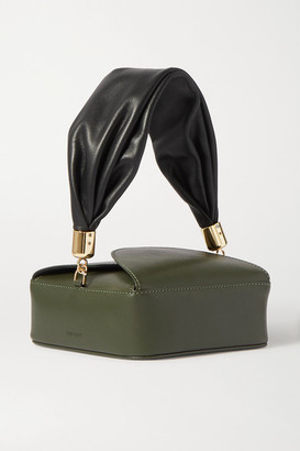 The Sant - Furoshiki Mini Leather Tote - Dark green