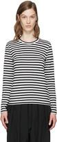 Comme des Garcons White & Black Striped T-Shirt
