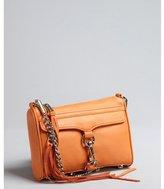 Rebecca Minkoff orange leather 'Mini Mac' chain strap convertible shoulder bag