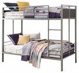 Homelegance B2033-1 Twin/Twin Folding Metal Bunk Bed, Grey