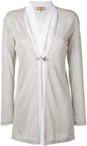 Fay layered semi-sheer cardigan - women - Silk/Cotton/Polyester/Viscose - S