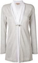 Fay layered semi-sheer cardigan - women - Viscose/Polyester/Cotton/Silk - S