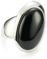 ELLE Jewelry Black Agate Sterling Silver Ring