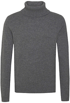 Tommy Hilfiger Luxury Roll Neck Jumper, Silver Fog