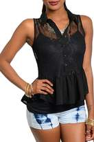 Adore Clothes & More Black Lace Top