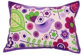 Bacati Botanical Sanctuary Purple Decorative Pillow