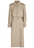 Stella McCartney Cecile Prince Of Wales-checked Trench Coat