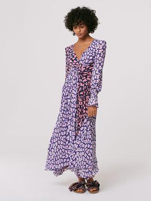 Diane von Furstenberg Safara Mesh Asymmetrical Dress