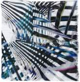 Marc Cain graphic pattern print scarf