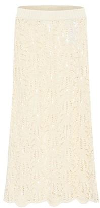 Jil Sander Crochet lace midi skirt
