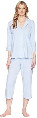 Lauren Ralph Lauren Essentials Bingham Knits Capri PJ Set (Pink Paisley) Women's Pajama Sets