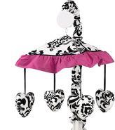 Sweet Jojo Designs Isabella Musical Crib Mobile in Hot Pink/Black/White