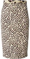 Givenchy leopard print pencil skirt - women - Spandex/Elastane/Viscose - 36