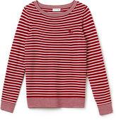 Lacoste Women's Boat Neck Wool Blend Jersey Nautical Shirt