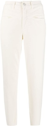 Closed High-Waisted Trousers