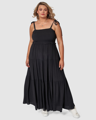 Sunday In The City - Women's Black Maxi dresses - Savages Maxi Dress - Size One Size, 10 at The Iconic