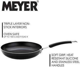Meyer Set of 2 Aluminium Frying Pans - Black