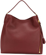 Tom Ford oversized tote - women - Cotton/Calf Leather/Polyester/Brass - One Size