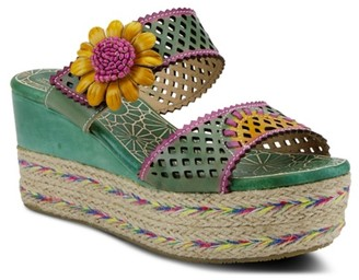 Spring Step L'artiste By Virgie Espadrille Wedge Sandal